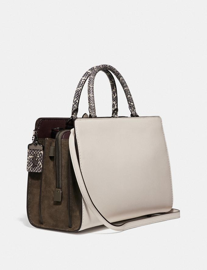 Coach Serra Satchel in Colorblock Pewter/Chalk Multi Women Bags Satchels & Carryalls Alternate View 1