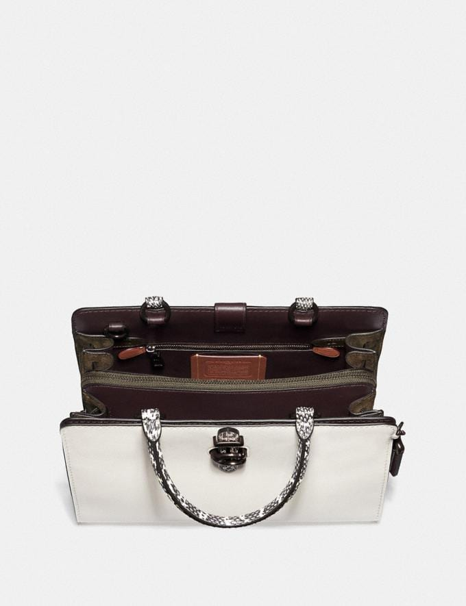 Coach Serra Satchel in Colorblock Pewter/Chalk Multi Women Bags Satchels & Carryalls Alternate View 2