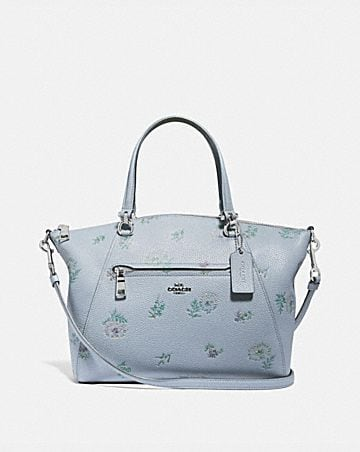 prairie satchel with meadow prairie print