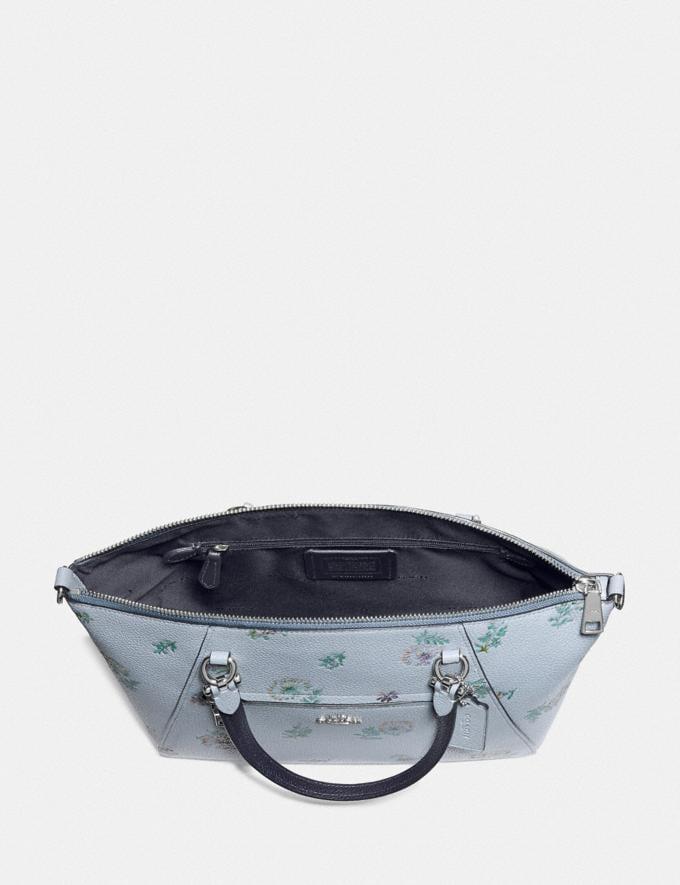 Coach Prairie Satchel With Meadow Prairie Print Silver/Mist Women Handbags Satchels & Carryalls Alternate View 2
