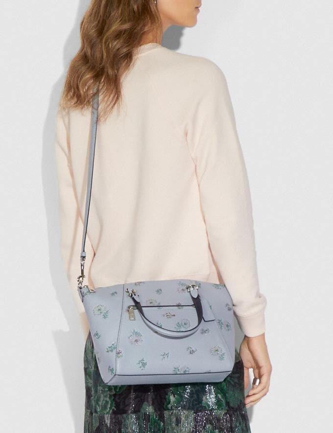 Coach Prairie Satchel With Meadow Prairie Print Silver/Mist Women Bags Satchels & Carryalls Alternate View 3