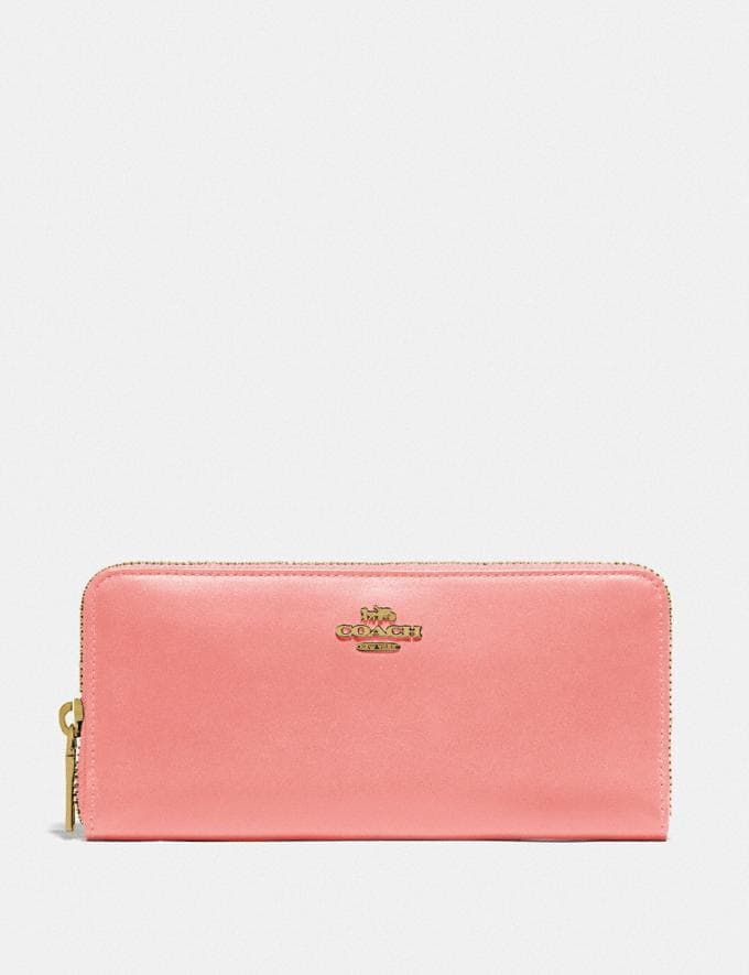 Coach Slim Accordion Zip Wallet B4/Candy Pink DEFAULT_CATEGORY
