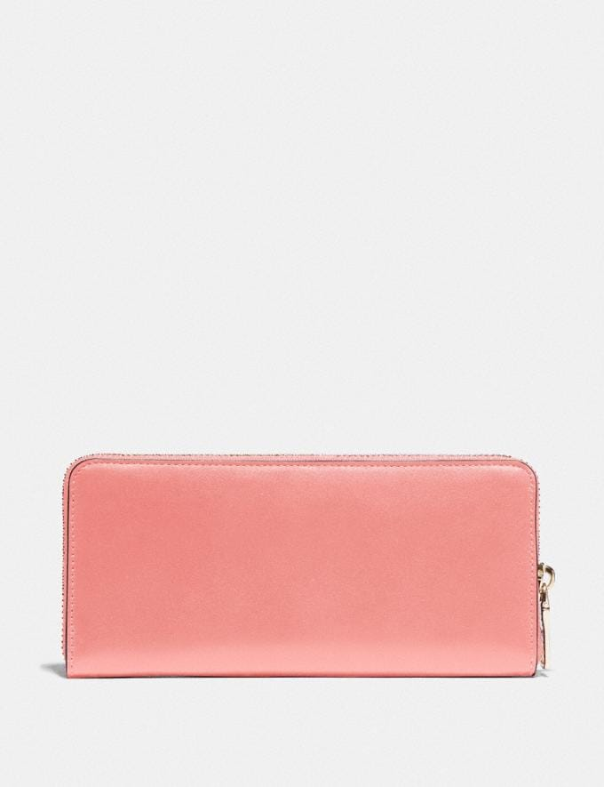 Coach Slim Accordion Zip Wallet B4/Candy Pink DEFAULT_CATEGORY Alternate View 1