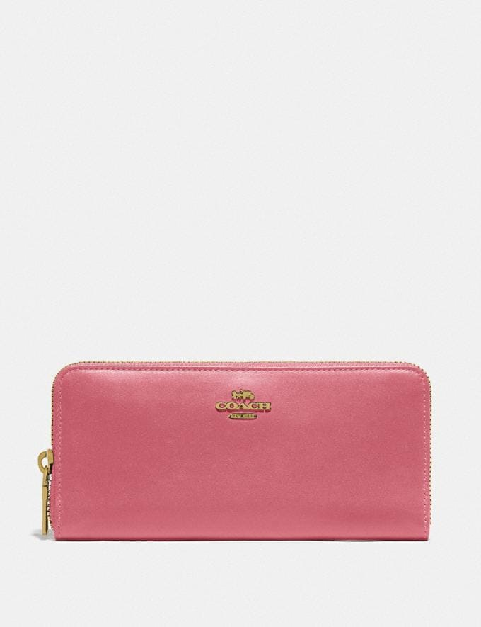 Coach Slim Accordion Zip Wallet B4/Rouge New Women's New Arrivals Small Leather Goods