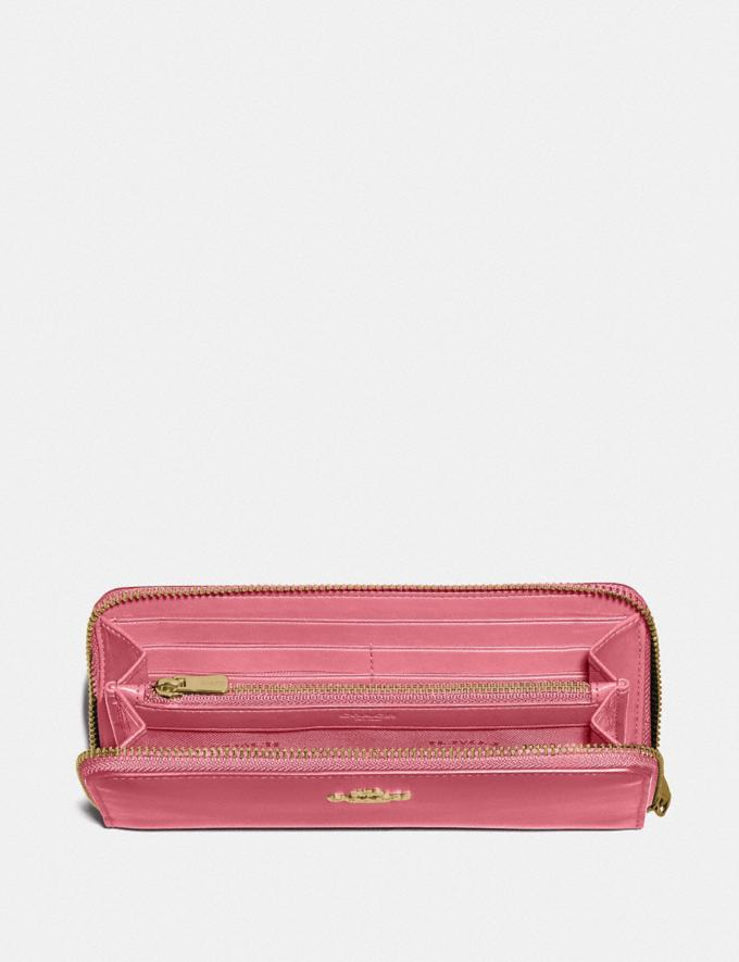 Coach Slim Accordion Zip Wallet B4/Rouge New Women's New Arrivals Small Leather Goods Alternate View 1