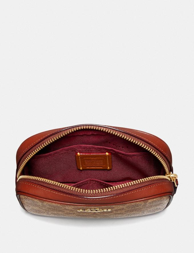 Coach Belt Bag in Colorblock Signature Canvas Brass/Tan Rust New Women's New Arrivals Bags Alternate View 2