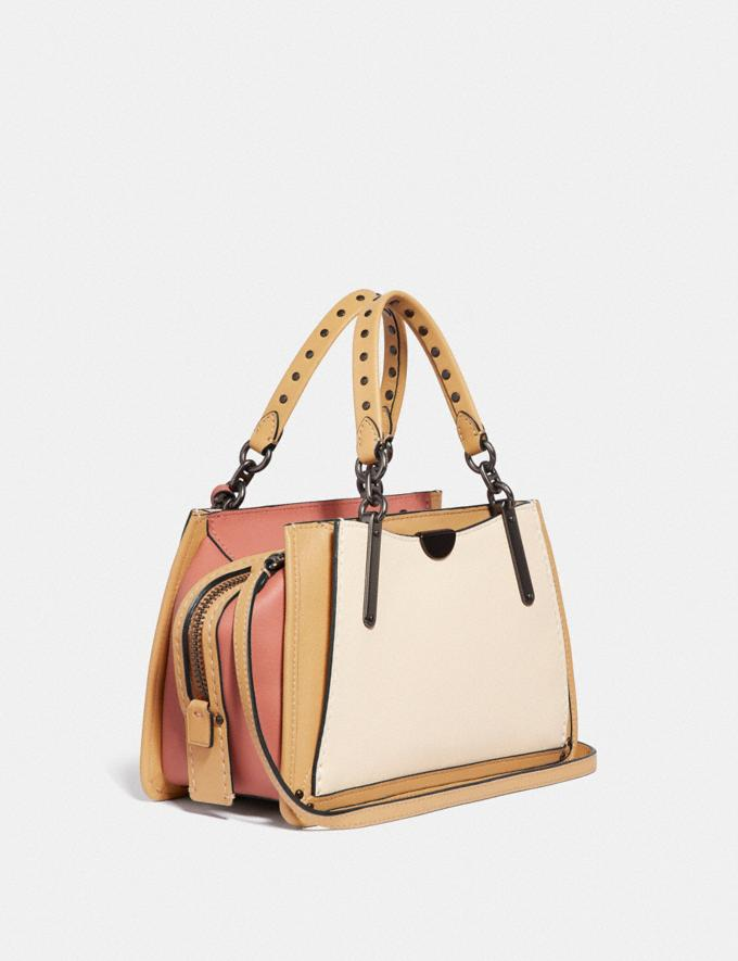 Coach Dreamer 21 in Colorblock With Rivets Ivory Multi/Pewter Women Bags Satchels & Carryalls Alternate View 1