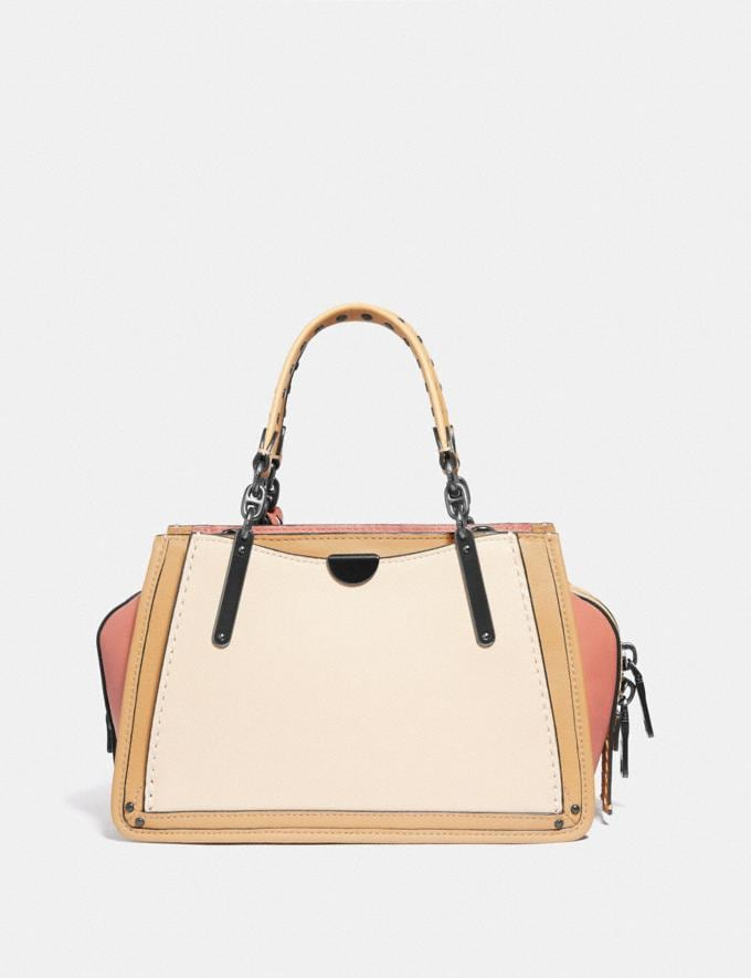 Coach Dreamer 21 in Colorblock With Rivets Ivory Multi/Pewter Women Bags Satchels & Carryalls Alternate View 2