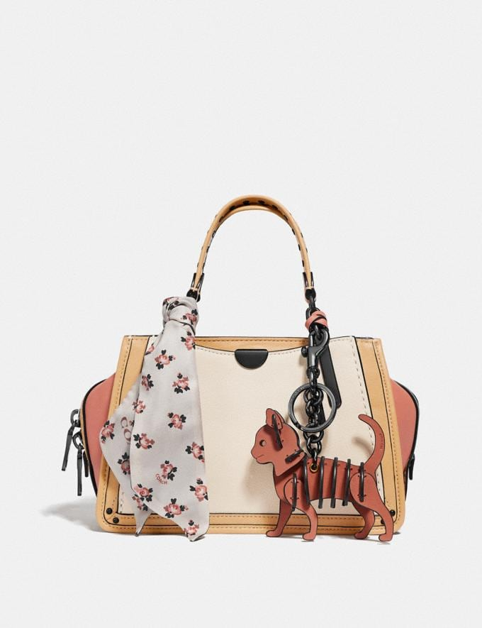Coach Dreamer 21 in Colorblock With Rivets Ivory Multi/Pewter Women Bags Satchels & Carryalls Alternate View 4