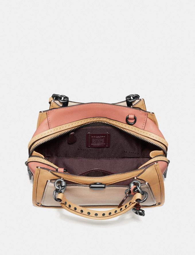 Coach Dreamer 21 in Colorblock With Rivets Ivory Multi/Pewter Women Bags Satchels & Carryalls Alternate View 3