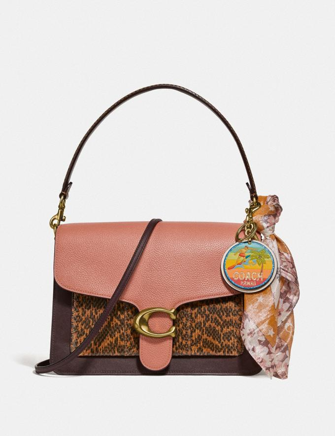 Coach Tabby Shoulder Bag in Colorblock With Snakeskin Detail Light Peach Multi/Brass Women Bags Shoulder Bags Alternate View 3