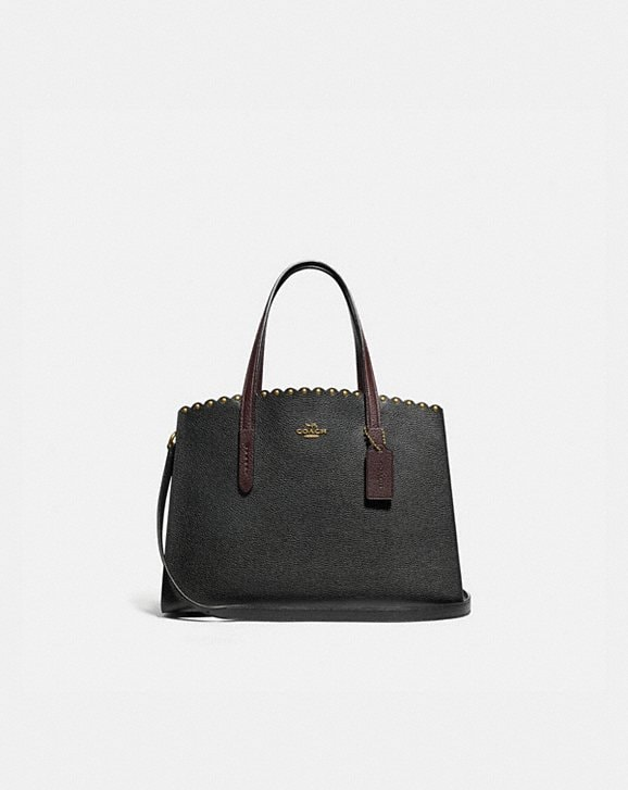 Coach CHARLIE CARRYALL WITH SCALLOP RIVETS