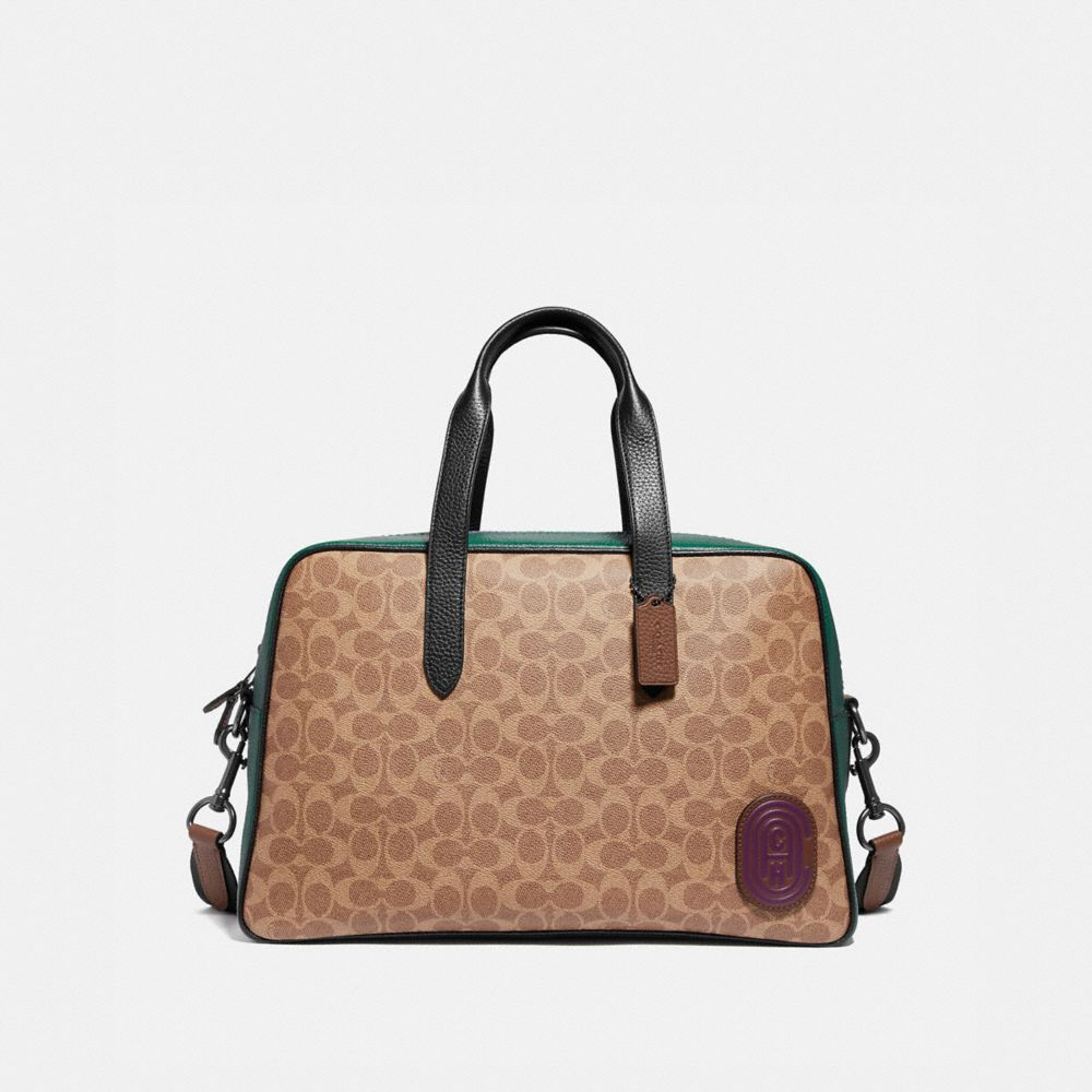 metropolitan soft carryall in signature canvas with coach patch