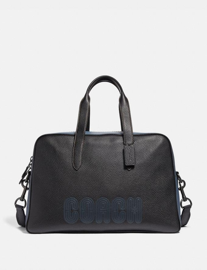 Coach Metropolitan Soft Carryall With Coach Patch Black/Black Copper Finish Cyber Monday Men's Cyber Monday Sale Bags