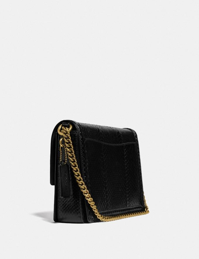 Coach Hutton Shoulder Bag in Snakeskin Brass/Black Damen Taschen Schultertaschen Alternative Ansicht 1
