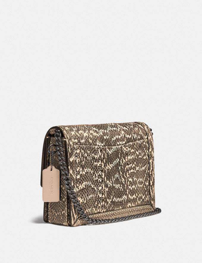 Coach Hutton Shoulder Bag in Snakeskin Pewter/Neutral Cyber Monday Für Sie Cyber Monday Sale Alternative Ansicht 1