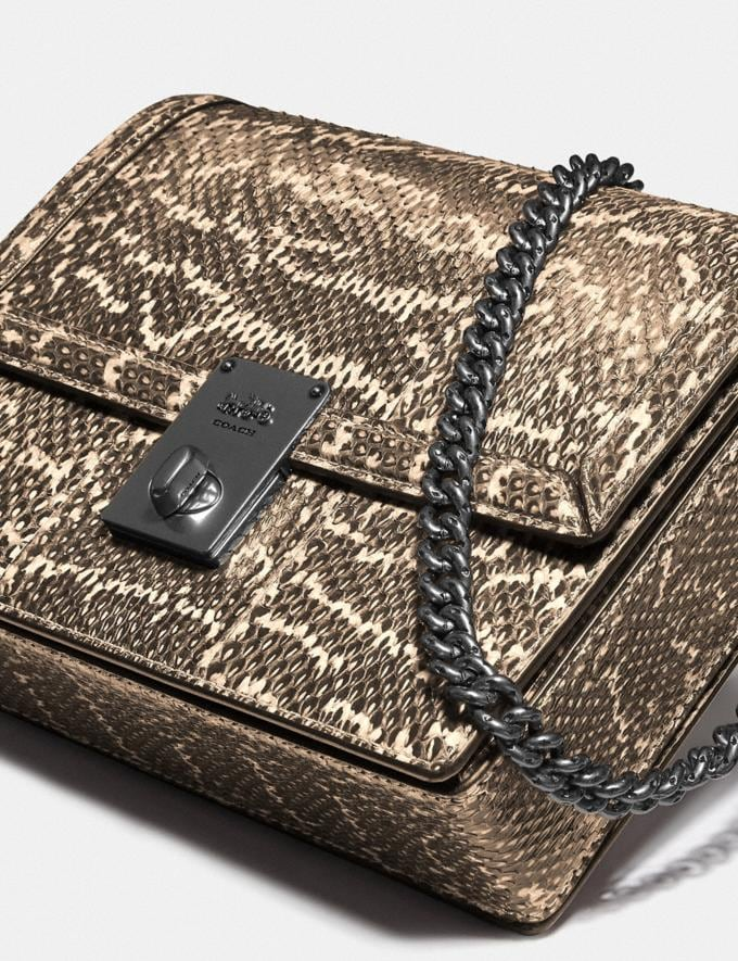 Coach Hutton Shoulder Bag in Snakeskin Pewter/Neutral Cyber Monday Für Sie Cyber Monday Sale Alternative Ansicht 5