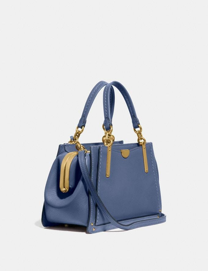 Coach Kisslock Dreamer 21 Washed Chambray/Brass New Women's New Arrivals Bags Alternate View 1