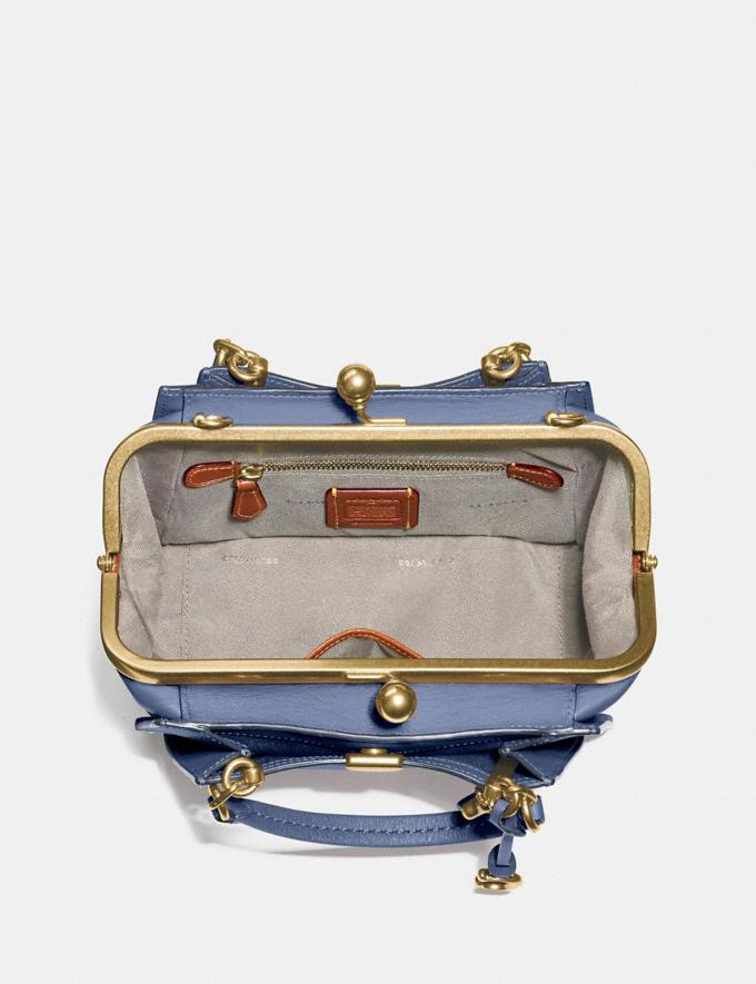 Coach Kisslock Dreamer 21 Washed Chambray/Brass New Women's New Arrivals Bags Alternate View 2