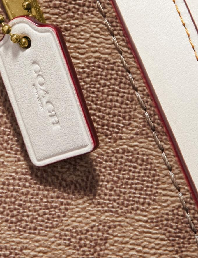 Coach Kisslock Dreamer 21 in Signature Canvas Tan/Chalk/Brass New Women's New Arrivals Bags Alternate View 4