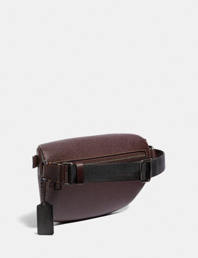 Coach Belt Bag With Rexy by Yeti Out Oxblood/Pewter New Featured Rexy Remix Alternate View 1