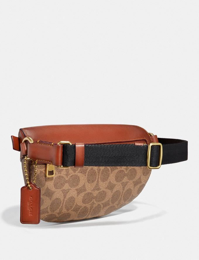 Coach Belt Bag in Signature Canvas With Rexy by Guang Yu Tan/Rust/Brass Women Bags Belt Bags Alternate View 1