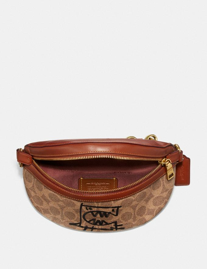 Coach Belt Bag in Signature Canvas With Rexy by Guang Yu Tan/Rust/Brass New Women's New Arrivals Collection Alternate View 2