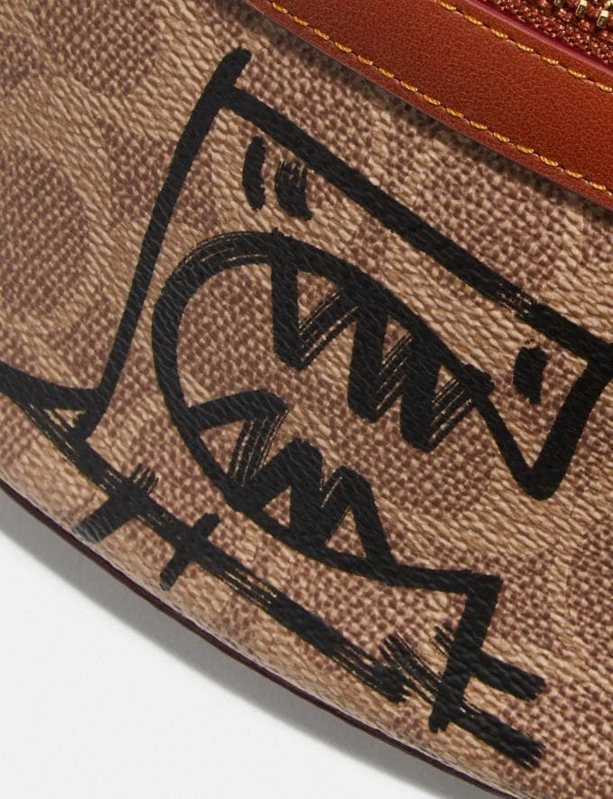Coach Belt Bag in Signature Canvas With Rexy by Guang Yu Tan/Rust/Brass New Women's New Arrivals Collection Alternate View 4