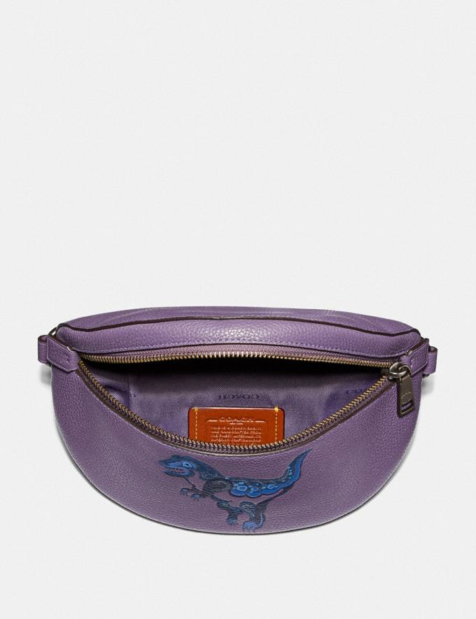 Coach Belt Bag With Rexy by Zhu Jingyi Dusty Lavender/Pewter Women Bags Belt Bags Alternate View 2