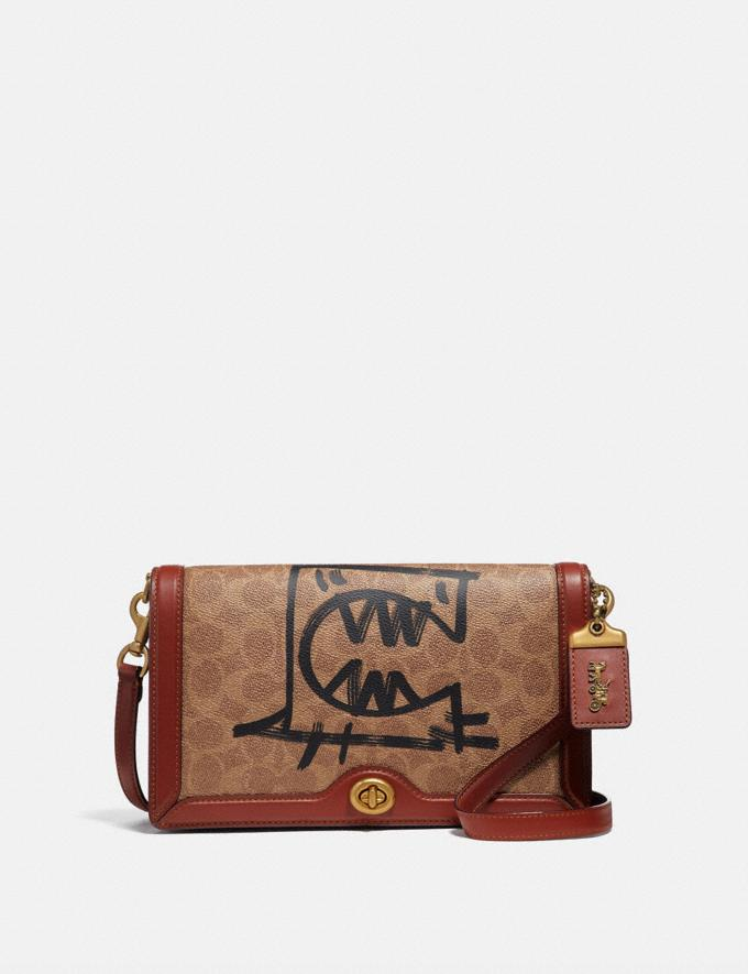 Coach Riley in Signature Canvas With Rexy by Guang Yu Tan/Rust/Brass New Women's New Arrivals Collection