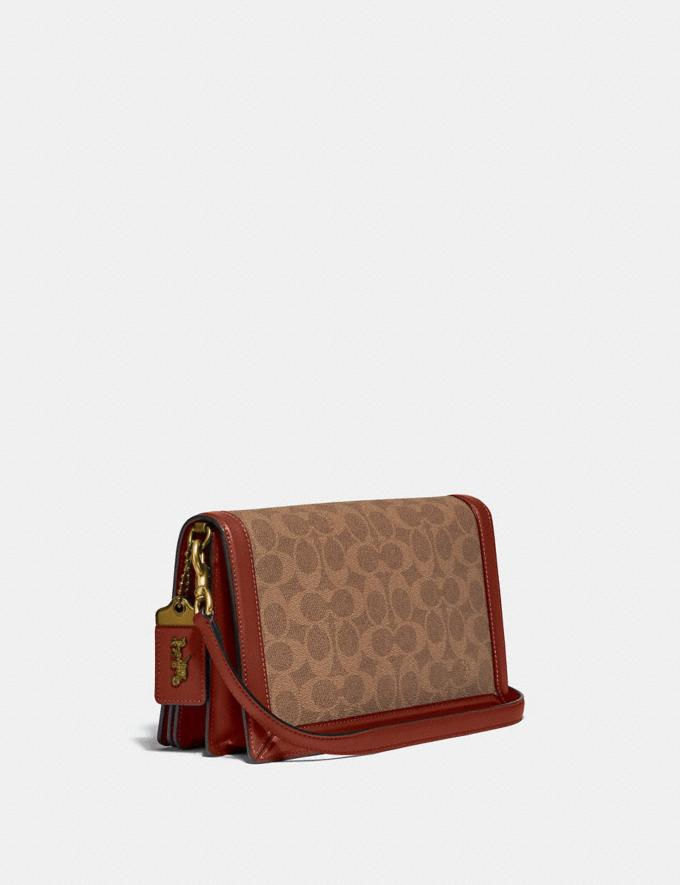 Coach Riley in Signature Canvas With Rexy by Guang Yu Tan/Rust/Brass New Women's New Arrivals Collection Alternate View 1
