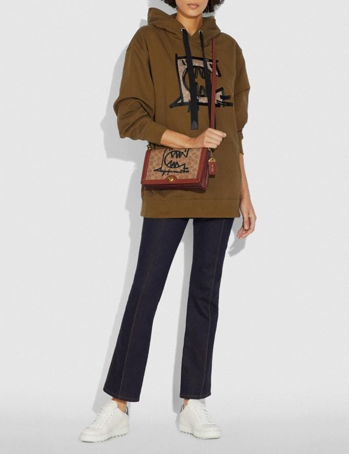 Coach Riley in Signature Canvas With Rexy by Guang Yu Tan/Rust/Brass New Women's New Arrivals Collection Alternate View 3