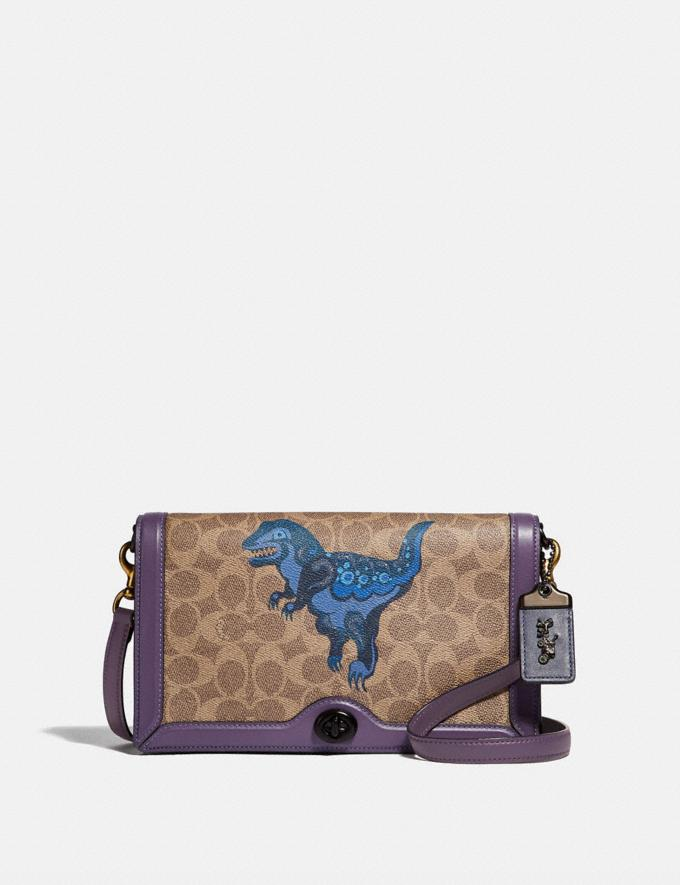 Coach Riley in Signature Canvas With Rexy by Zhu Jingyi Tan/Dusty Lavender/Pewter New Women's New Arrivals Collection