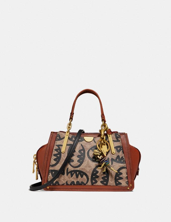 Coach Dreamer 21 in Signature Canvas With Rexy by Guang Yu Tan/Rust/Brass Women Bags Alternate View 3