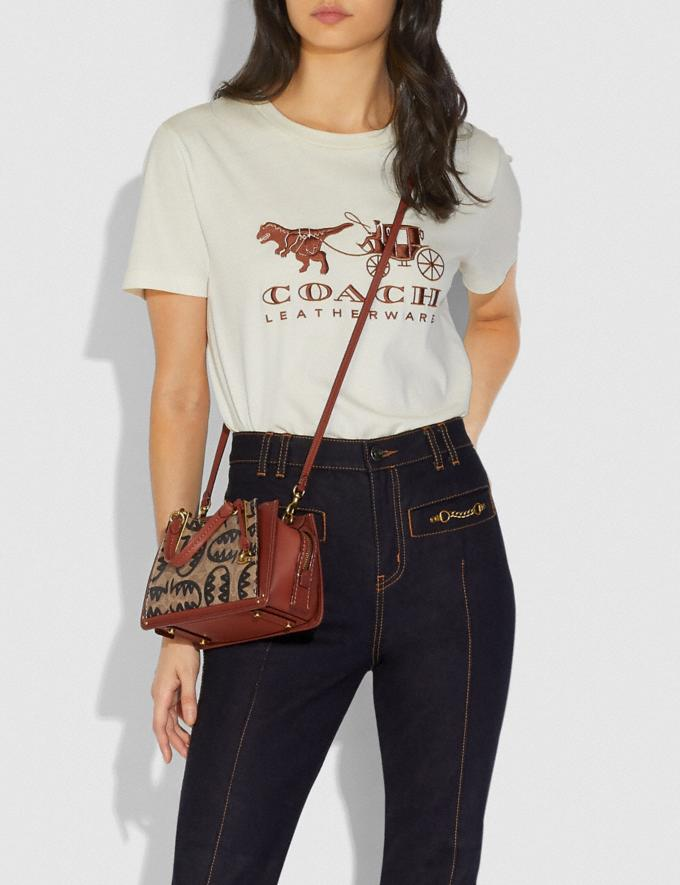Coach Dreamer 21 in Signature Canvas With Rexy by Guang Yu Tan/Rust/Brass New Women's New Arrivals Collection Alternate View 4