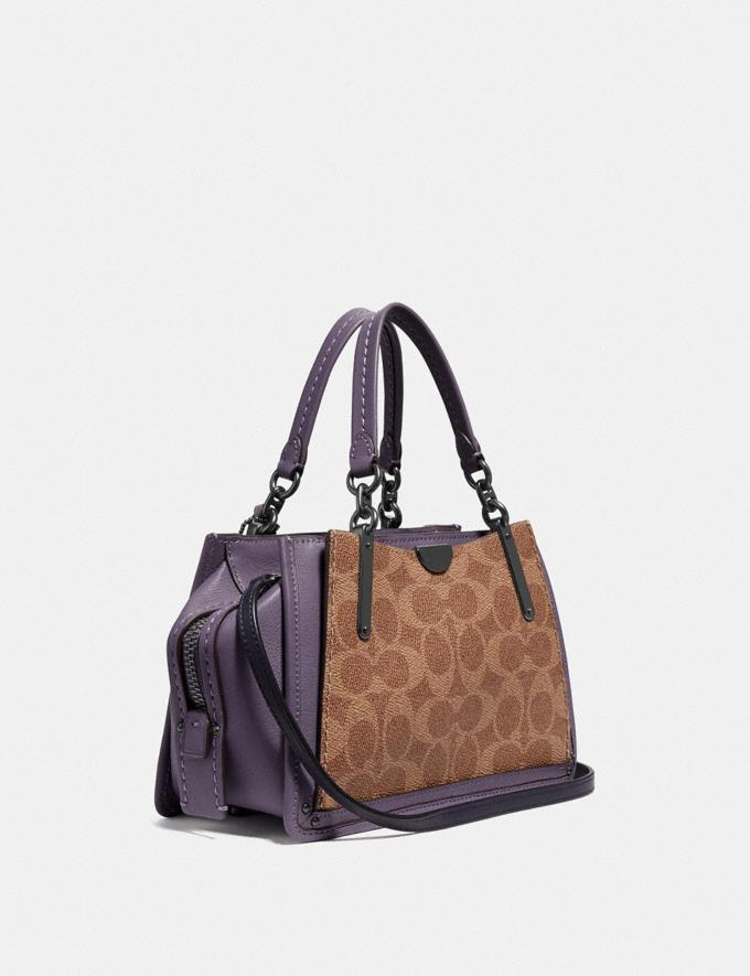 Coach Dreamer 21 in Signature Canvas With Rexy by Zhu Jingyi Tan/Dusty Lavender/Pewter Women Collection Dreamer Alternate View 1
