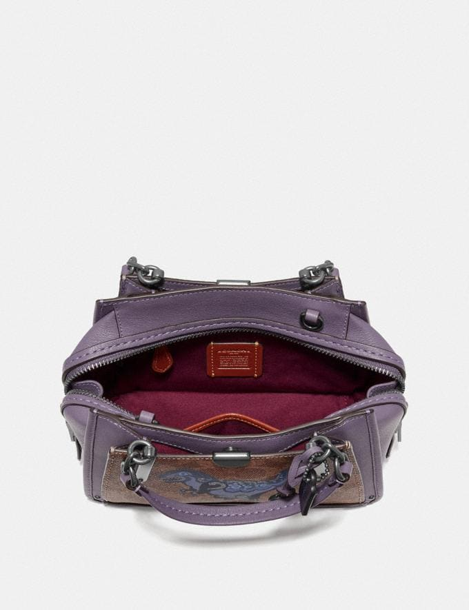 Coach Dreamer 21 in Signature Canvas With Rexy by Zhu Jingyi Tan/Dusty Lavender/Pewter Women Collection Signature Alternate View 2