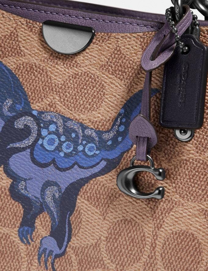 Coach Dreamer 21 in Signature Canvas With Rexy by Zhu Jingyi Tan/Dusty Lavender/Pewter Women Collection Signature Alternate View 4