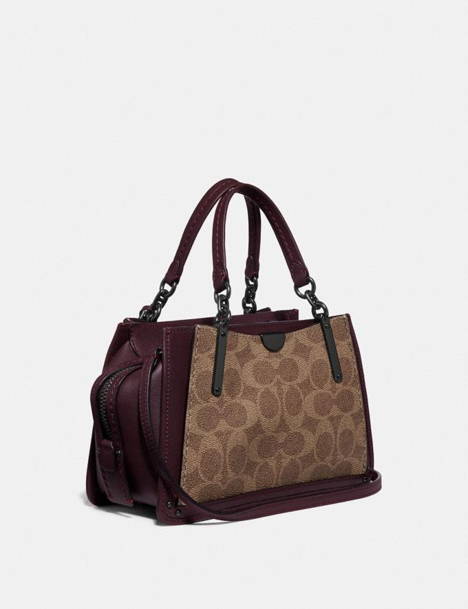 Coach Dreamer 21 in Signature Canvas With Rexy by Yeti Out Tan/Oxblood/Pewter Women Bags Satchels & Carryalls Alternate View 1