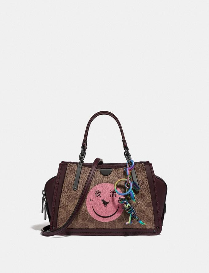 Coach Dreamer 21 in Signature Canvas With Rexy by Yeti Out Tan/Oxblood/Pewter Women Bags Satchels & Carryalls Alternate View 3