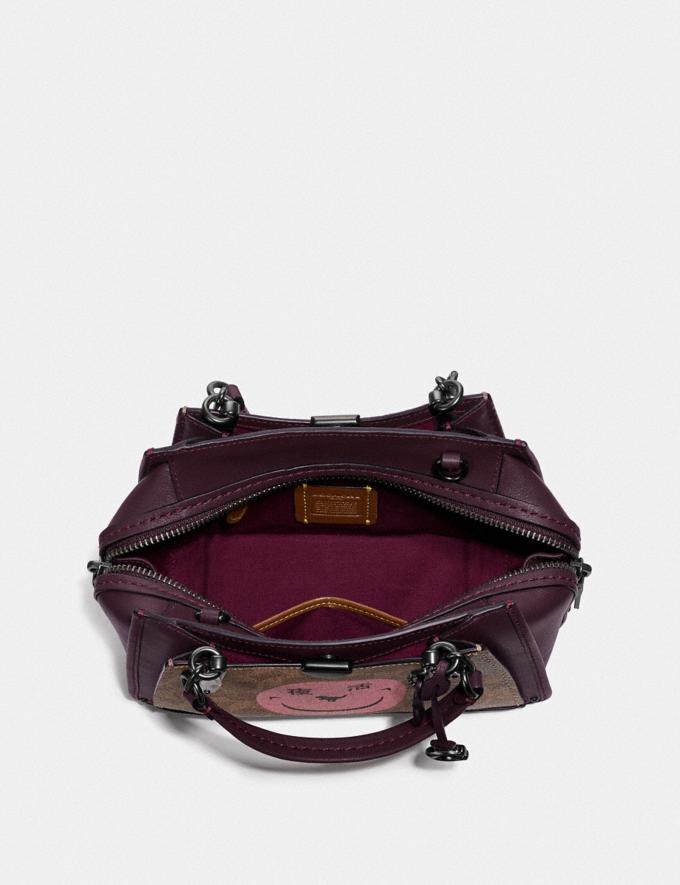 Coach Dreamer 21 in Signature Canvas With Rexy by Yeti Out Tan/Oxblood/Pewter Women Bags Satchels & Carryalls Alternate View 2