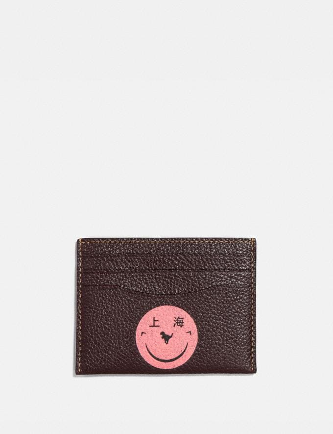 Coach Card Case With Rexy by Yeti Out Oxblood/Pewter New Women's New Arrivals Collection