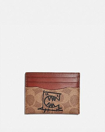 card case in signature canvas with rexy by guang yu