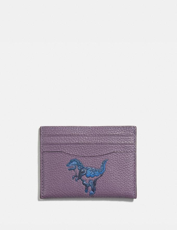 Coach Card Case With Rexy by Zhu Jingyi Dusty Lavender/Pewter Women Small Leather Goods Card Cases