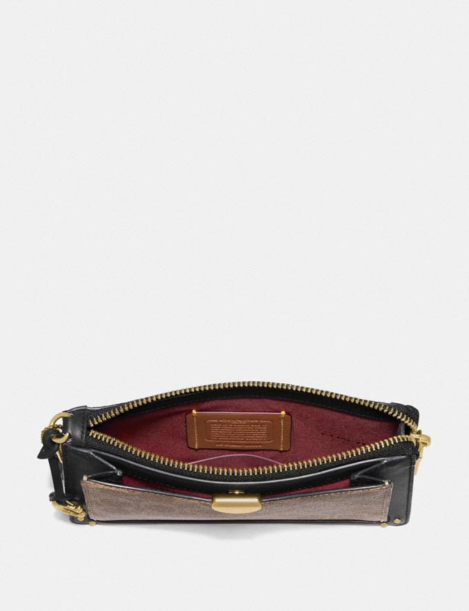Coach Dreamer Wristlet in Signature Canvas Tan Black/Brass New Featured 30% off (and more) Alternate View 1