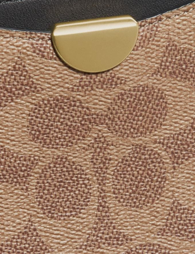 Coach Dreamer Wristlet in Signature Canvas Tan Black/Brass New Featured 30% off (and more) Alternate View 3
