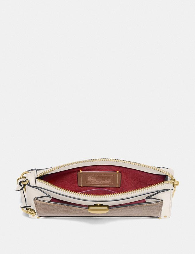 Coach Dreamer Wristlet in Signature Canvas Tan Chalk/Brass Women Edits Alternate View 1