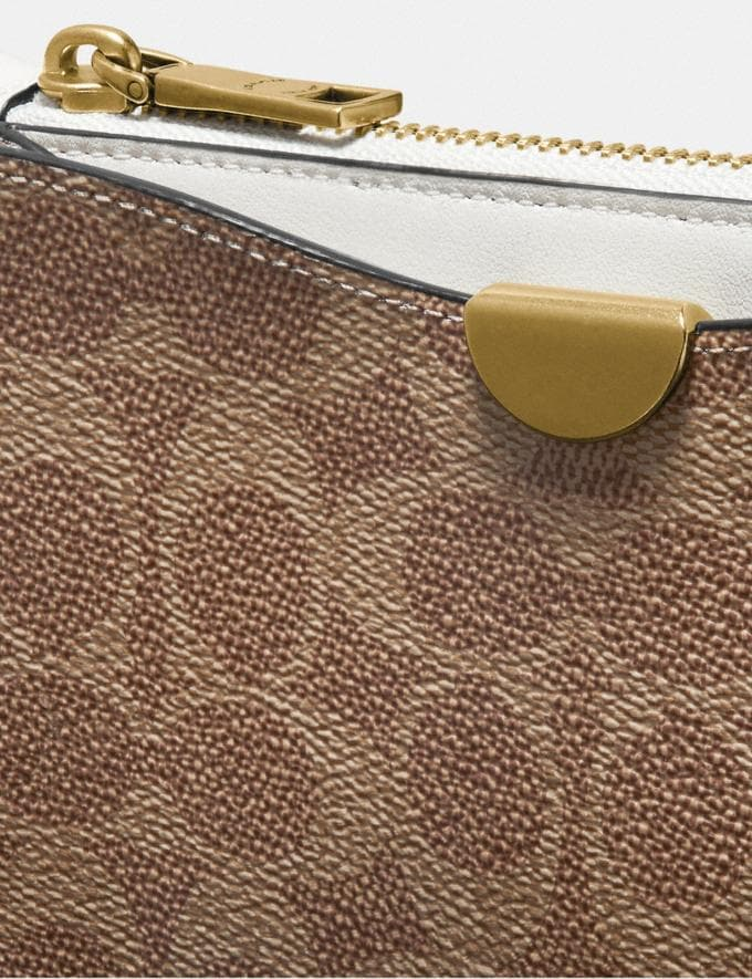 Coach Dreamer Wristlet in Signature Canvas Tan Chalk/Brass Women Edits Alternate View 3