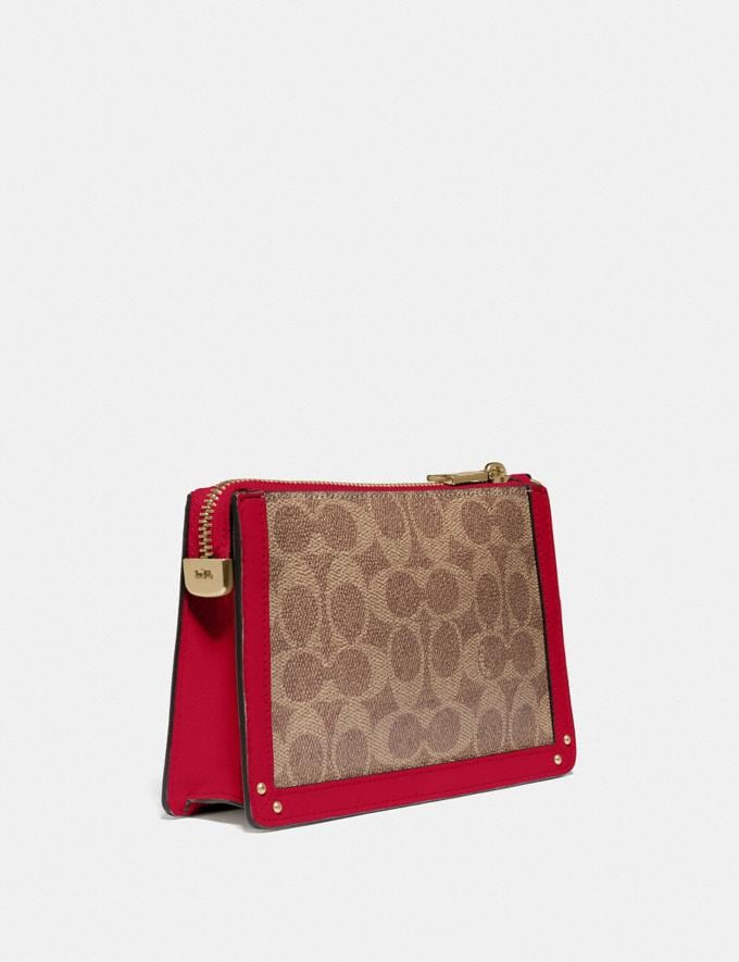 Coach Dreamer Wristlet in Signature Canvas Red Cyber Monday Online Only Cyber Monday Sale Bags Alternate View 1