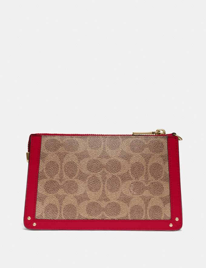 Coach Dreamer Wristlet in Signature Canvas Red Cyber Monday Online Only Cyber Monday Sale Bags Alternate View 2